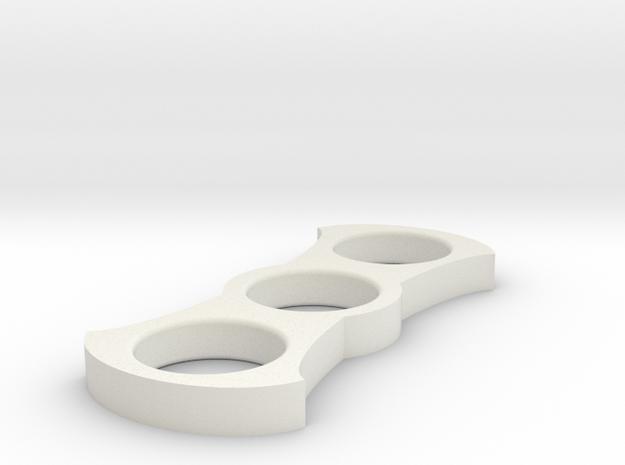 Hammerhead Spinner in White Natural Versatile Plastic