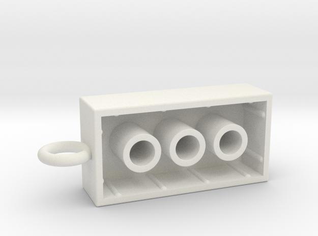 Legopeice in White Natural Versatile Plastic