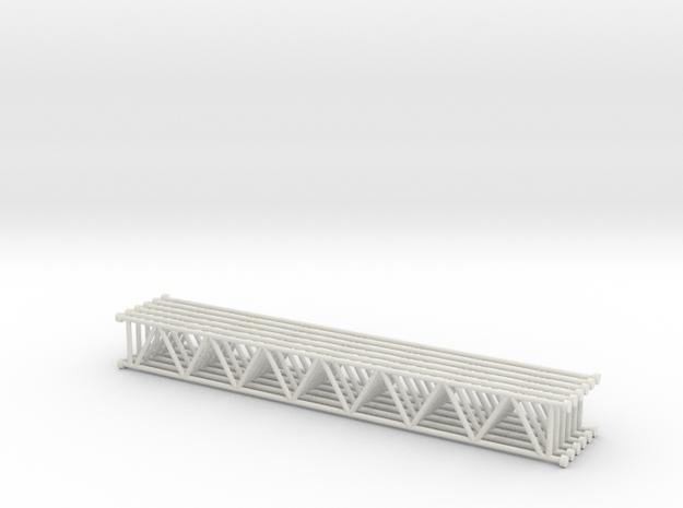Lattice girder 01. 1:24 Scale in White Natural Versatile Plastic