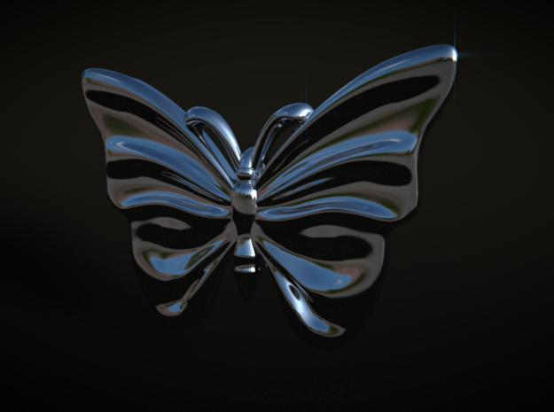Monarch Butterfly in Premium Silver