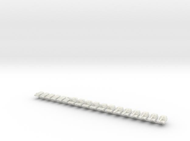 1/542 2S19 Self-Propelled Gun Battery in White Natural Versatile Plastic