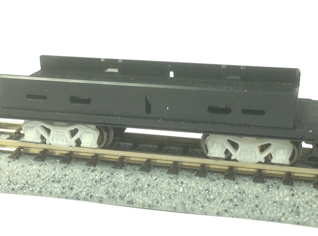 N Scale PRR Keisel truck for Kato Mikado in Smoothest Fine Detail Plastic