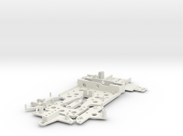 CK2 Chassis Kit for 1/32 Scale Large MagRacing Car in White Strong & Flexible