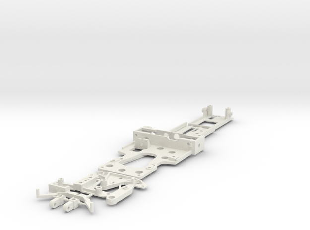 CK3 Chassis Kit for 1/32 Scale LMP MagRacing Car in White Natural Versatile Plastic
