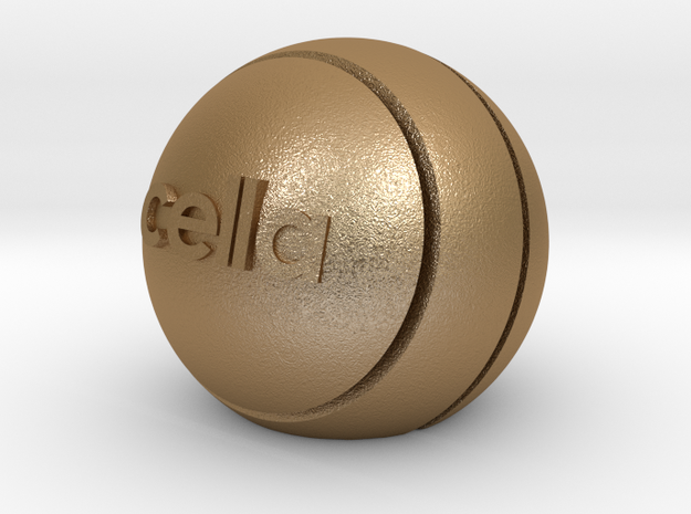 cella card stand in Matte Gold Steel
