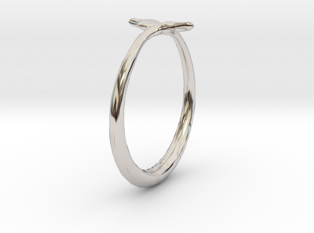 Cygnus Olor Swan Ring 6 in Platinum
