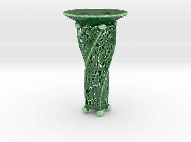 Candle Holder JK in Gloss Oribe Green Porcelain