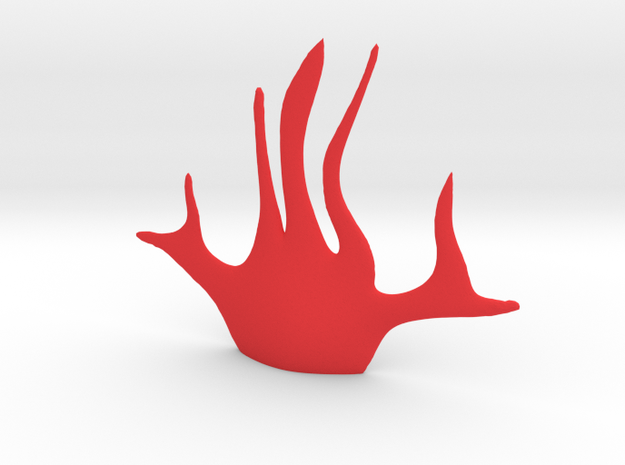 Fire Eyepatch in Red Processed Versatile Plastic