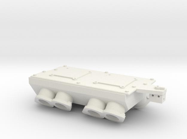 Brodix BBC Dual 4bbl 1/12 in White Natural Versatile Plastic