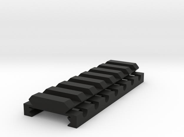 "1/4"" High 7 Slots Hybrid Picatinny/Weaver Riser in Black Natural Versatile Plastic"