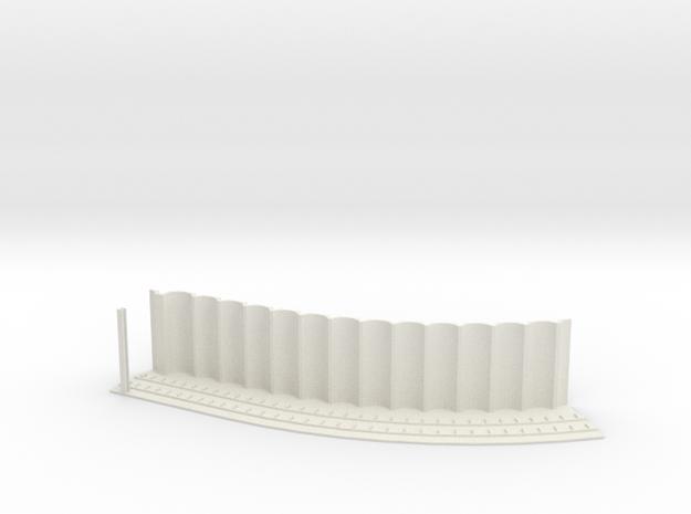 MARKET SUBWAY EL HO SCALE 1 Track Curve45 Pt1  in White Natural Versatile Plastic