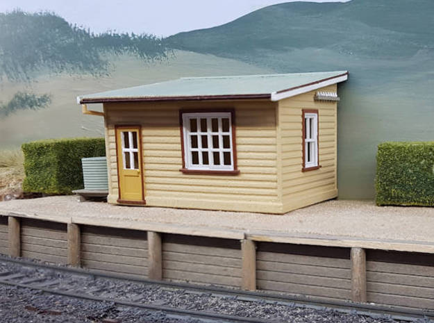 HO NSWGR Platform Signal Box - Right Hand Door in White Strong & Flexible
