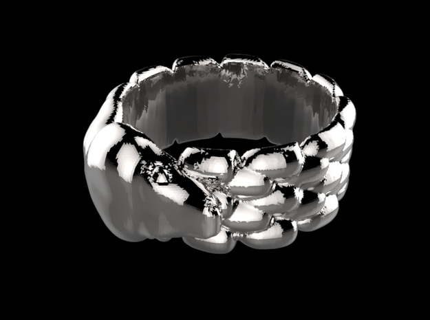 Bague Python pour Alex  in Polished Silver: 9 / 59