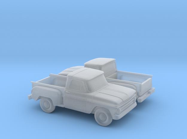 1/160 2X 1962-66 Chevrolet C-10 Stepside in Smooth Fine Detail Plastic