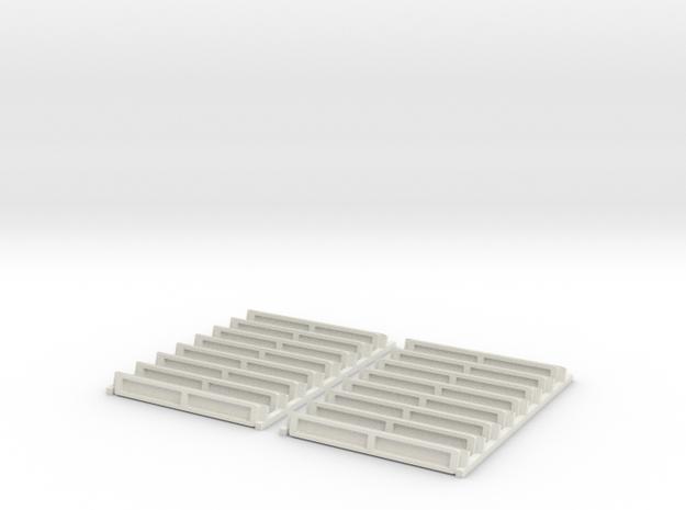 Re 446 Und Re 456 Lüftergitterset Scale TT in White Natural Versatile Plastic