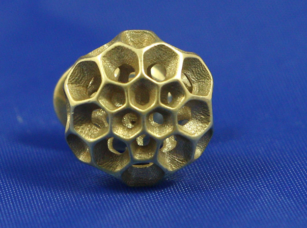 Pollen Lapel Pin in Polished Bronze
