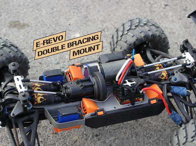 E-Revo Double Bracing Mount (Rear) in White Processed Versatile Plastic