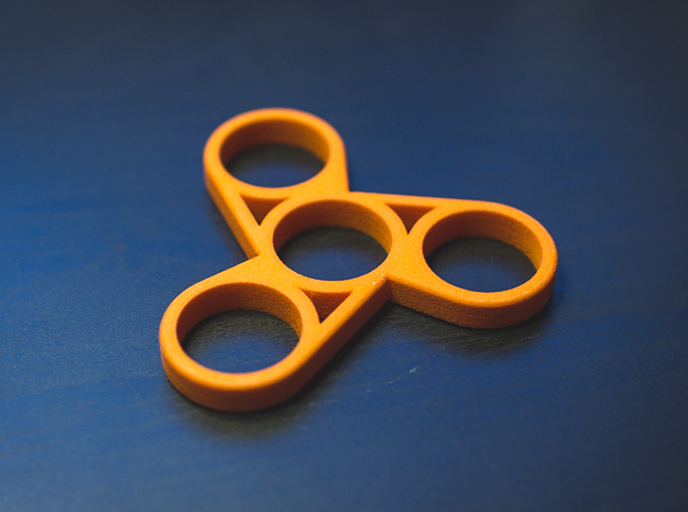 The Askew - Fidget Spinner in Orange Processed Versatile Plastic
