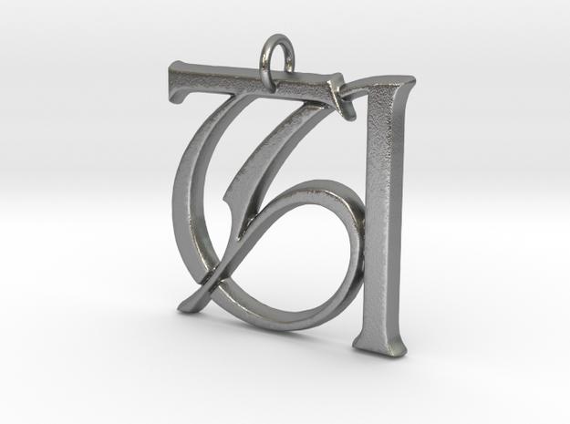 Monogram Initials TA Pendant