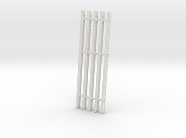 Katyusha Short Right Rails 1:35 scale in White Natural Versatile Plastic: 1:35
