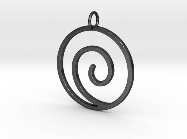Uzumaki Clan Pendant in Polished Grey Steel