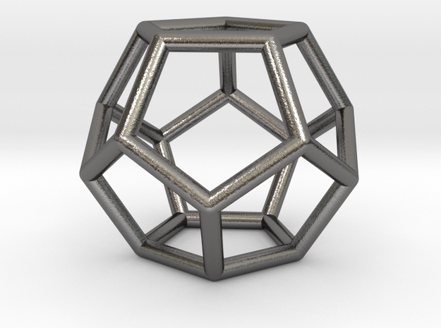 0598 Dodecahedron E (a=10mm) #001 in Polished Nickel Steel