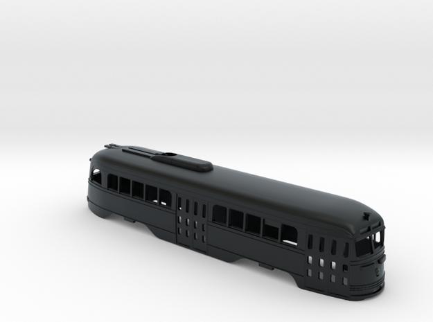 N Scale Prewar PCC TTC Body #2 in Black Hi-Def Acrylate