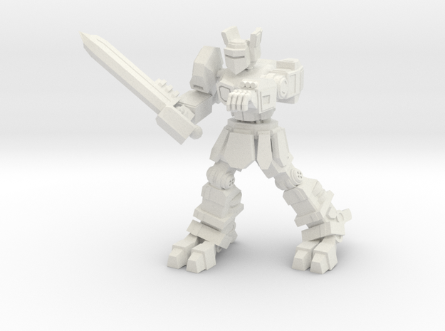 Knight K1A7 alternate pose 2 in White Natural Versatile Plastic