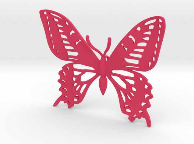 Butterfly Pendant vs 01 in Pink Strong & Flexible Polished
