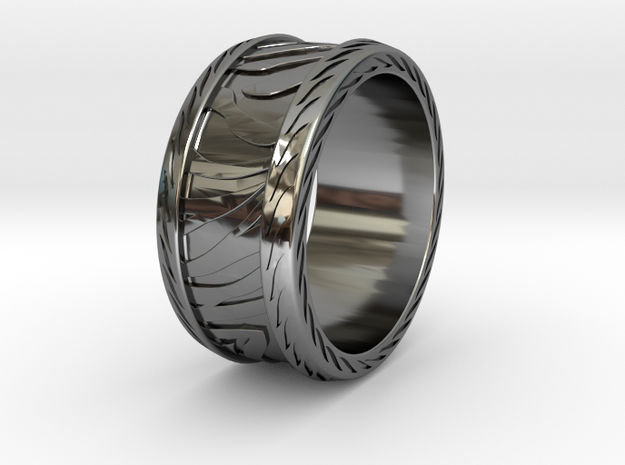 PRIMAL RING SIZE 10 in Fine Detail Polished Silver