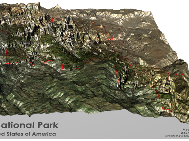 Zion National Park Map in Full Color Sandstone