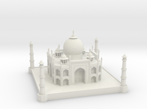 Taj Mahal in White Natural Versatile Plastic