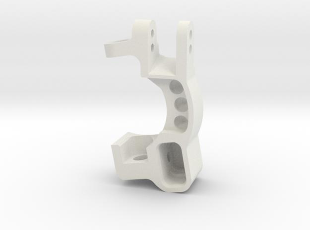 Slash 0deg Caster Block L in White Natural Versatile Plastic