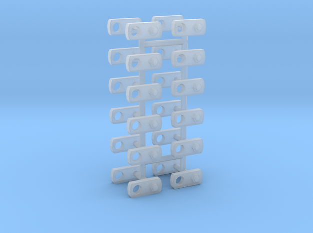 1/50 Locking pin plates: Pack of 24  in Smoothest Fine Detail Plastic