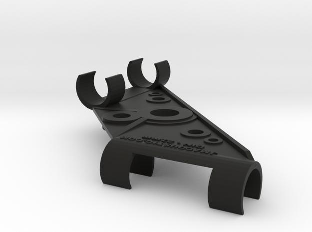 21mm DIN Stereo Mic Clip in Black Natural Versatile Plastic