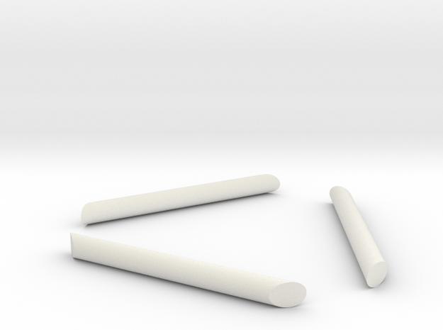 TK Grappling Hook 3 Shaped Pins in White Natural Versatile Plastic