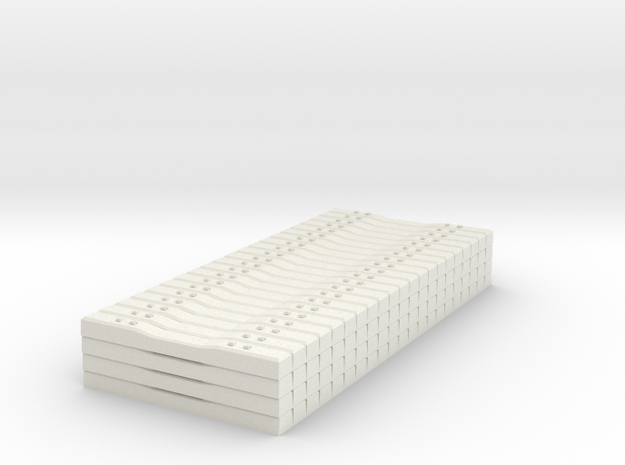 Concrete Tie Load Block - HOScale in White Natural Versatile Plastic