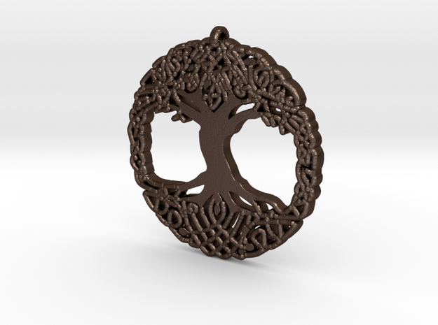 World tree in Matte Bronze Steel
