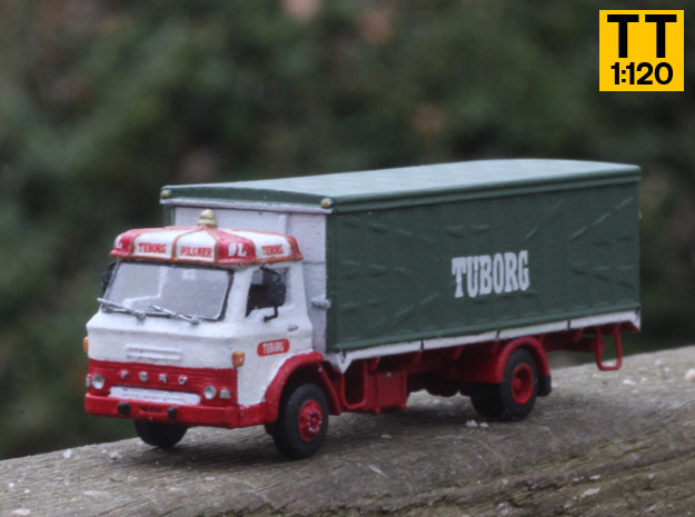 Ford D series Brewery truck TT scale (parasol) in Smoothest Fine Detail Plastic