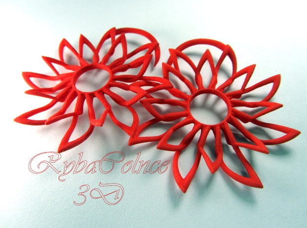 The Sun Shine/Plugs /gauge / size 10G (2.5 mm) in Red Processed Versatile Plastic