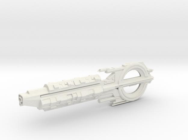 Quarian Cruiser. in White Natural Versatile Plastic