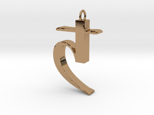 Saturn's sickle in Polished Brass
