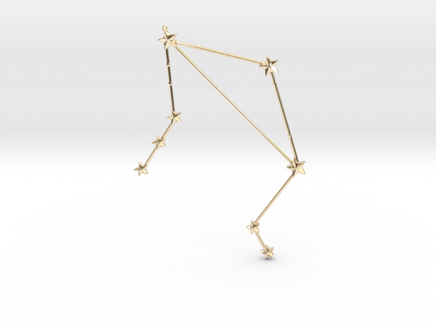 Zodiac Libra in 14k Gold Plated Brass