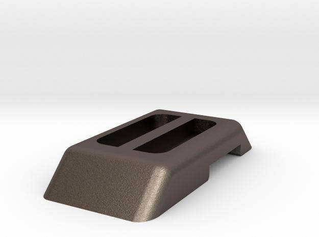 70'S TONKA WINNEBAGO DOOR HANDLE in Polished Bronzed Silver Steel: 1:10