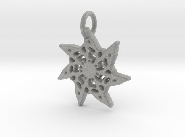Seven-Pointed Snowflake in Metallic Plastic