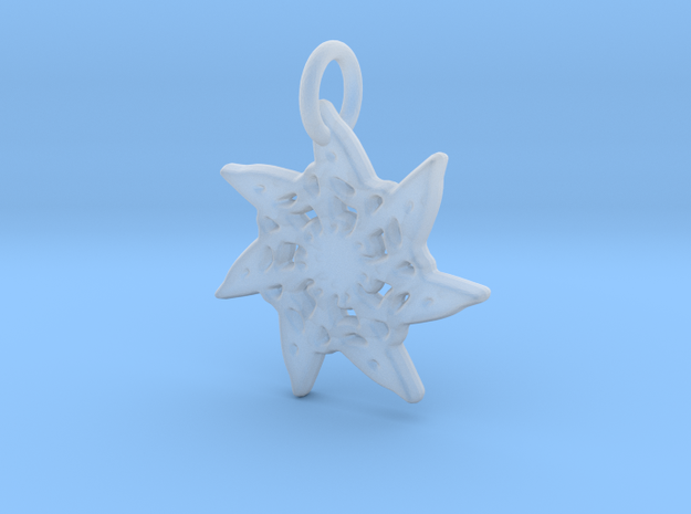 Seven-Pointed Snowflake in Smooth Fine Detail Plastic