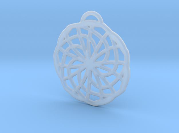 Labyrinth Pendant - Medium in Smooth Fine Detail Plastic