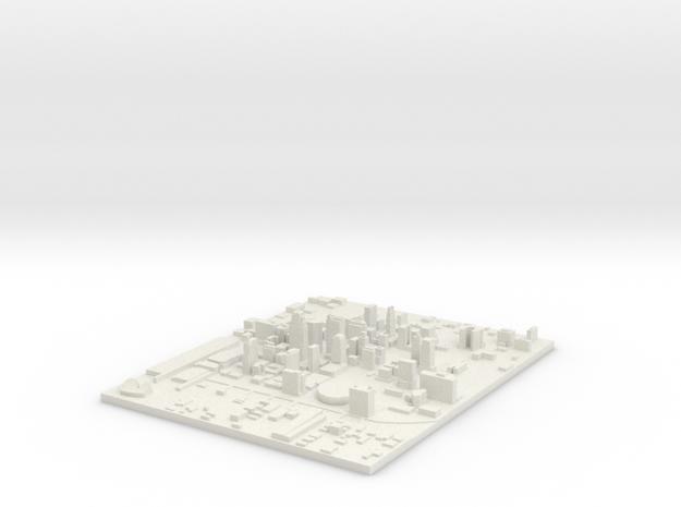 Kansas City in White Natural Versatile Plastic