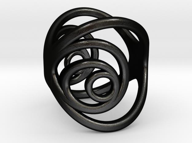 Aurea_Ring_2 in Matte Black Steel: 3 / 44
