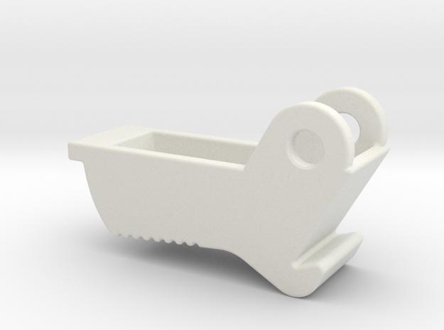 AUG Mag Release - TM/CA Version in White Natural Versatile Plastic